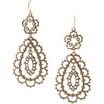 Esprit earrings with an antique finish