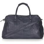 Topshop Vintage Look Leather Luggage Bag