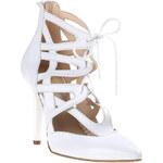 Baťa Dámské bílé sandály na podpatku