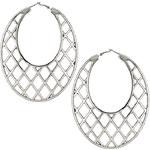 Topshop Criss Cross Oval Hoop Earrings