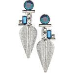 Topshop Rhinestone and Metal Tusk Earrings