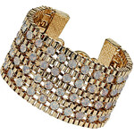 Topshop Premium Rhinestone Chain Bracelet
