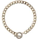 Topshop Premium Pave Clasp Necklace
