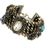Topshop Chunky Chain Stone Detail Bracelet
