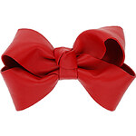 Topshop Red Leather Bow Hair Clip