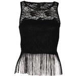 AX Paris Lace Fringe Top Black M/L