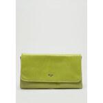 Picard POLLENCA Limettengrüne Lederclutch mit Kette