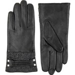 Marks and Spencer M&S Collection Leather Herringbone Tweed Gloves