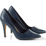 Esprit leather court shoes + high heel