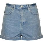Topshop MOTO Bright Blue Mom Shorts