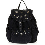 Topshop Gem Denim Backpack