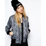 Schott NYC Leopard Print Bomber Jacket