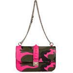 Valentino Canvas Camo Print Studded Shoulder Bag