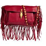 Valentino Leather Fringed Shoulder Bag