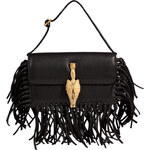 Valentino Leather Mini Fringe Bag with Zodiac