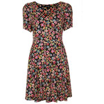 Topshop Floral Flippy Dress