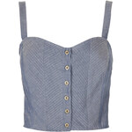 Topshop Denim Lattice Suntop