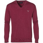 Gant Light Weight Cotton Elbow V-Neck Jumper