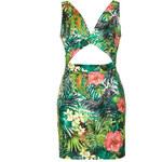 Topshop **Tropical Print Cut Out Dress by Rare