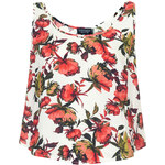 Topshop Crinkle Flower Split Back Vest