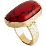 ASOS Nugget Semi Precious Ring - Red