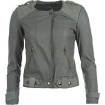 Firetrap Avery Biker Jacket Ladies Silver X Small