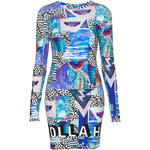 Topshop **Tropical Space Drop Back Dress by Illustrated People
