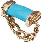 ASOS Semi Precious Chain Ring - Blue