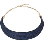 Topshop Blue Snake Effect Torque Necklace