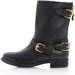 Topshop **Riff Leather Biker Boots by Dune