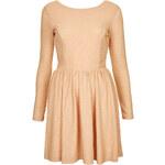 Topshop Twist Back Sparkle Dress