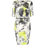 Topshop Neon Scribble Zip Mini Dress