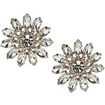 Topshop Premium Flower Crystal Earrings