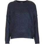Topshop Knitted Foil Textured Jumper