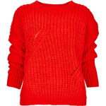 Topshop Knitted Moving Rib Jumper