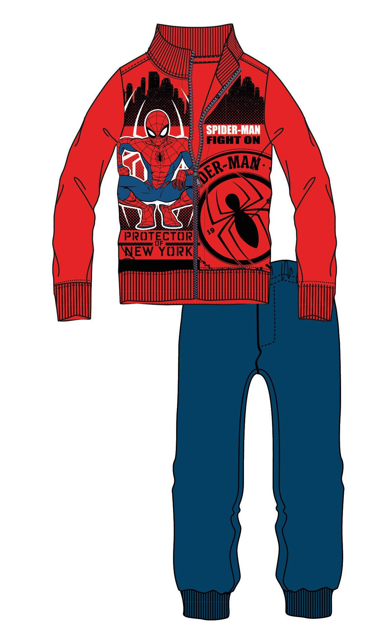 Disney by Arnetta Chlapecká tepláková souprava Spiderman - červeno-modrá 4e3f5025a97