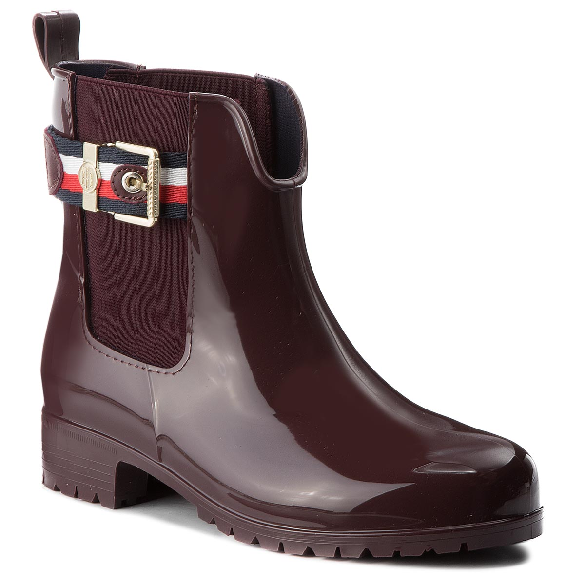 Gumicsizmák TOMMY HILFIGER - Corporate Belt Rain FW0FW03329 Decadent  Chocolate 296 7447b4fab6