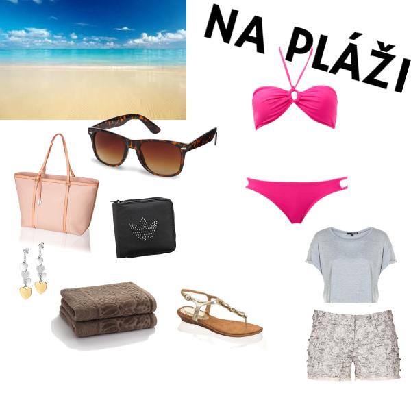 na pláži