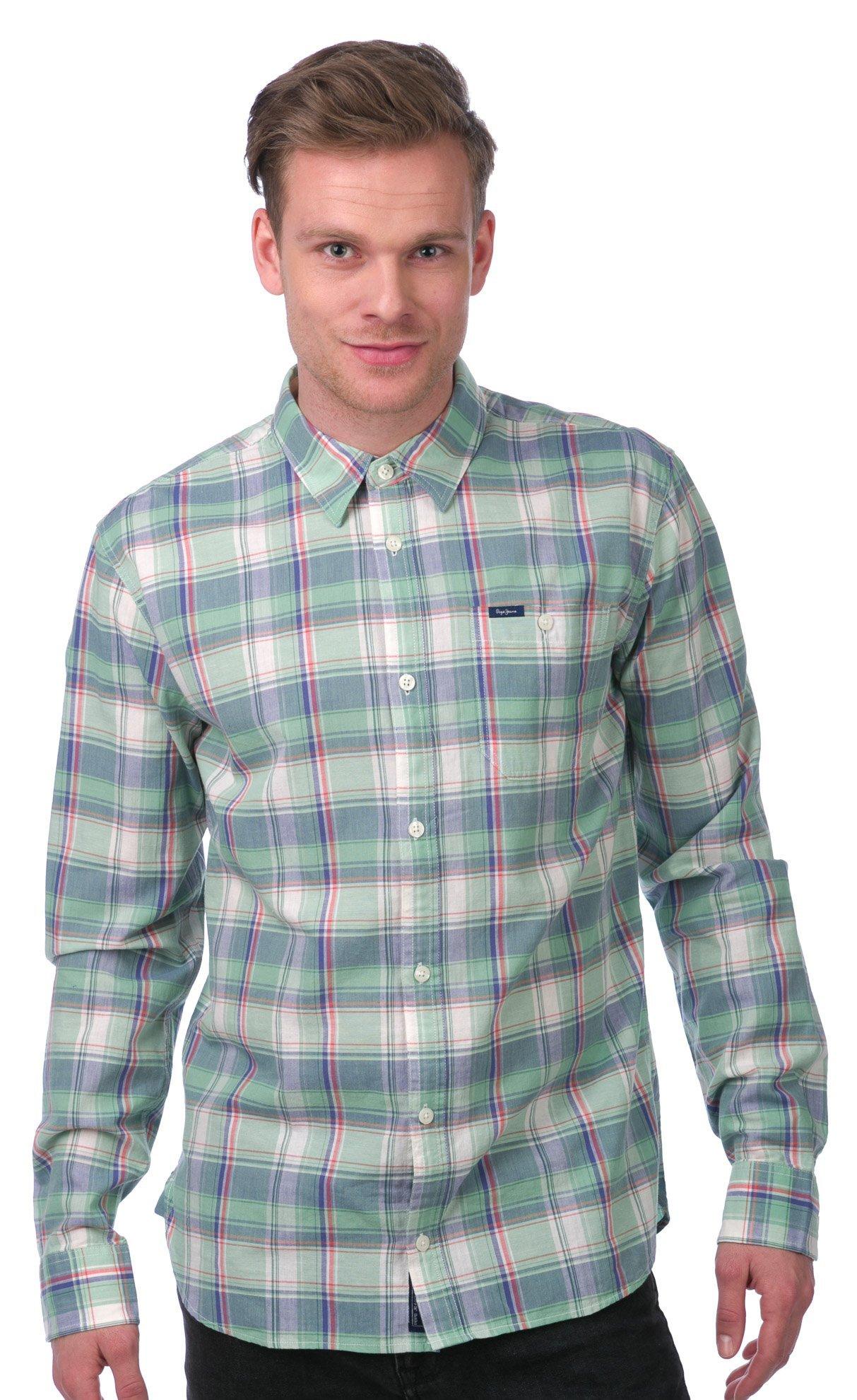 Pepe Jeans Pánská košile 991763 zelená - Glami.cz 44f27c06ca