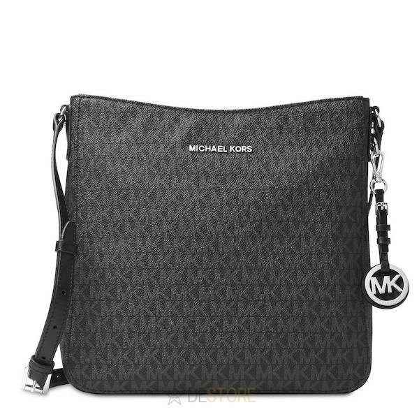 Michael Kors Kabelka Jet Set Travel Large Logo Messenger Black ... af9af65c3bd