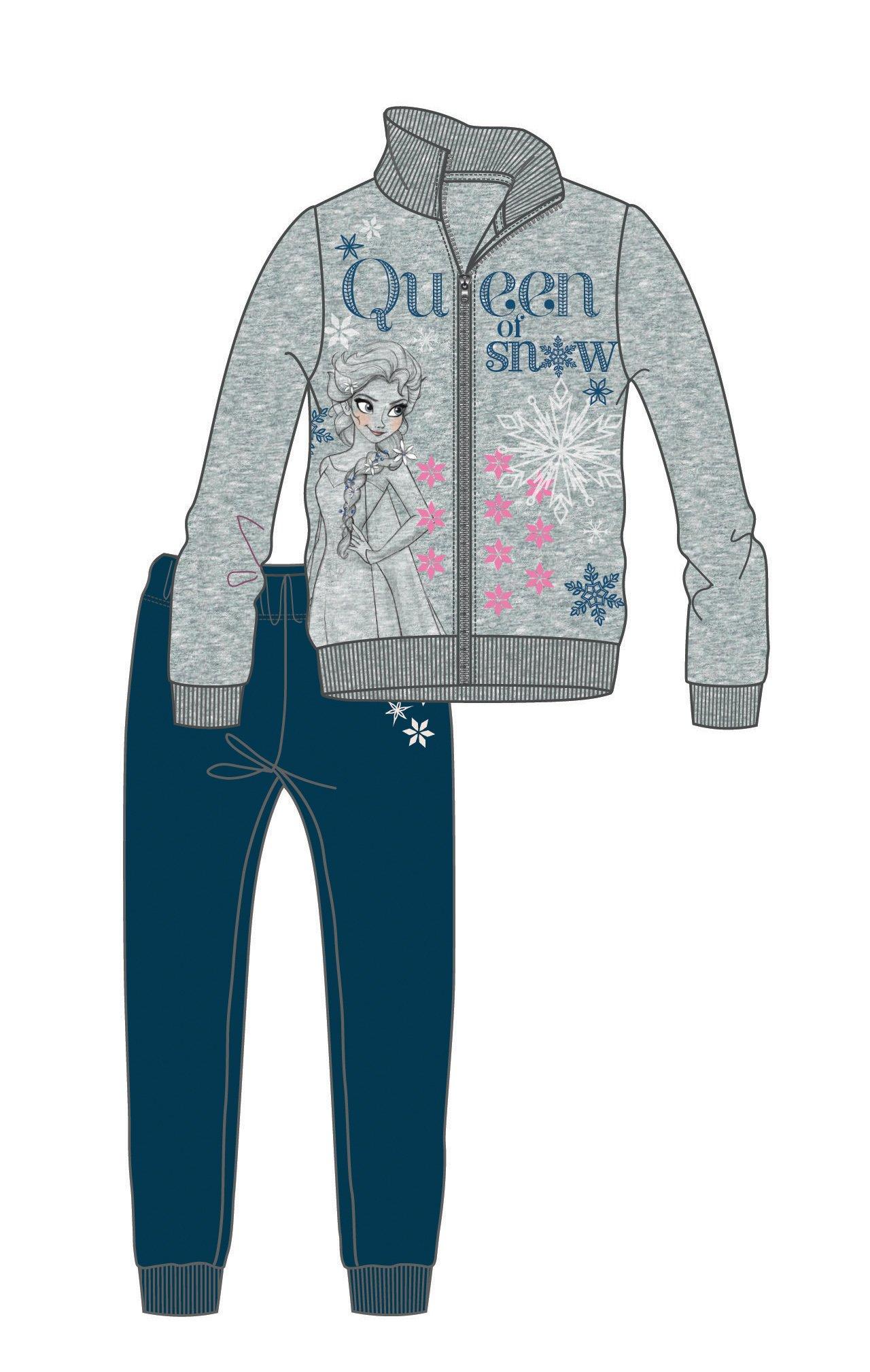 b53350e8b863 Disney by Arnetta Dievčenská tepláková súprava Frozen - šedo-modrá ...