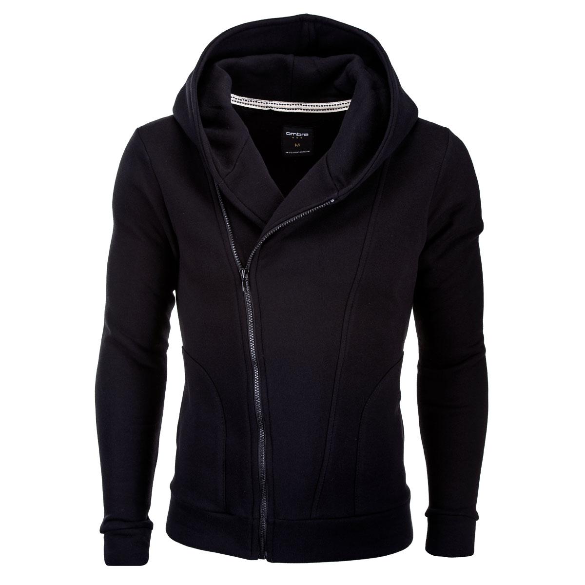 Ombre Clothing Pánská černá mikina Primo s assassin creed kapucí ... 1c8e716da73