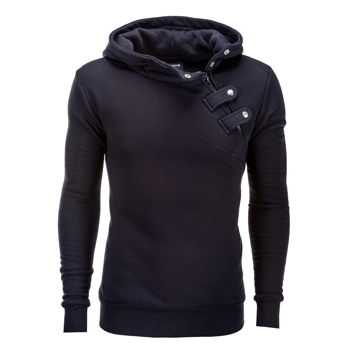 Ombre Clothing Pánská mikina Paco s bočním zipem černá - Glami.cz 5666338061