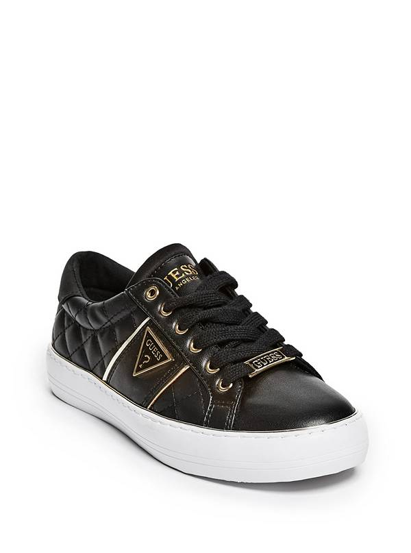b00872eebfc Tenisky GUESS Gilda Quilted Low-Top Sneakers černá 36 - Glami.cz