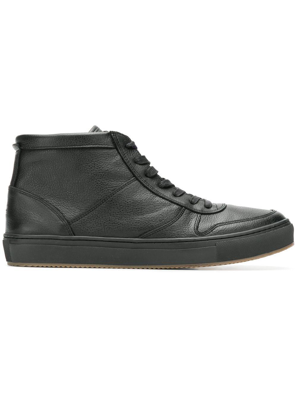 8d5d3ce4c483 Tommy Hilfiger hi-top leather sneakers - Black - Glami.cz