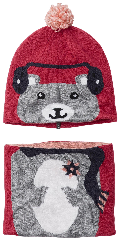 61ca058f5 Columbia Dievčenská súprava čiapky a nákrčníka Snow More Cactus Pink Bear -  fialový
