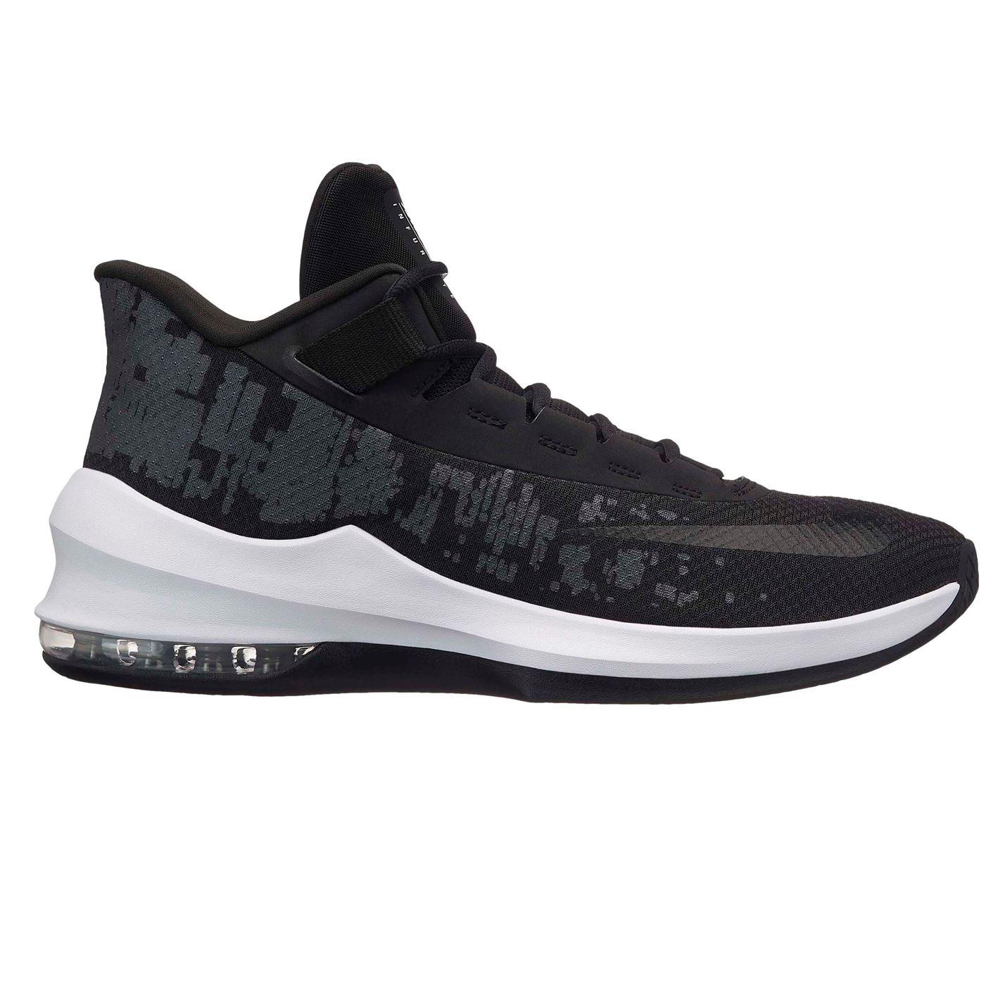 basketbalové boty boty Nike Air Max Infuriate 2 pánské Basketball  Black Black Wht. basketbalové boty ... 3cbe521c0ad