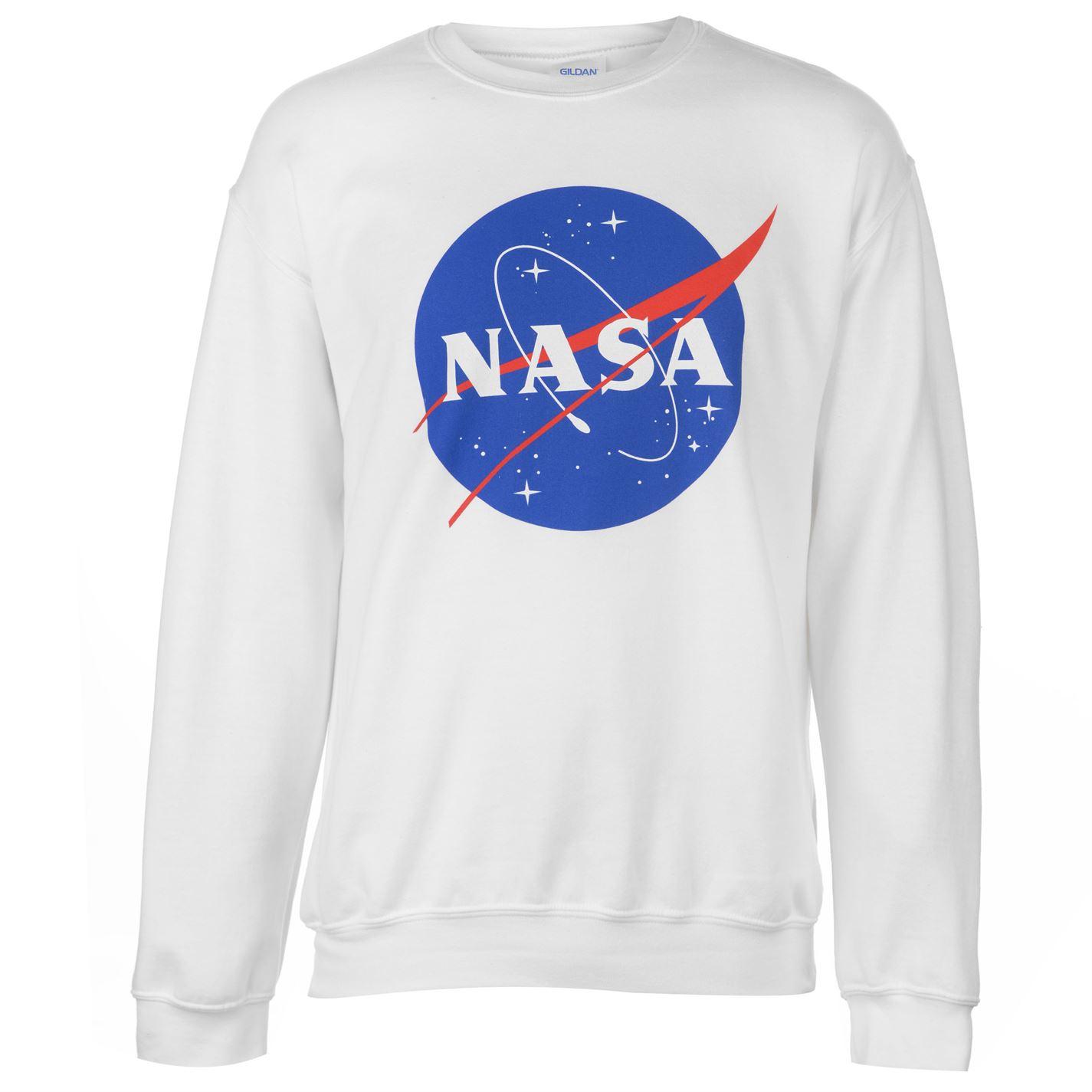 4b61a7c6ba6a Official NASA Logo Sweatshirt Mens Logo White - Glami.cz