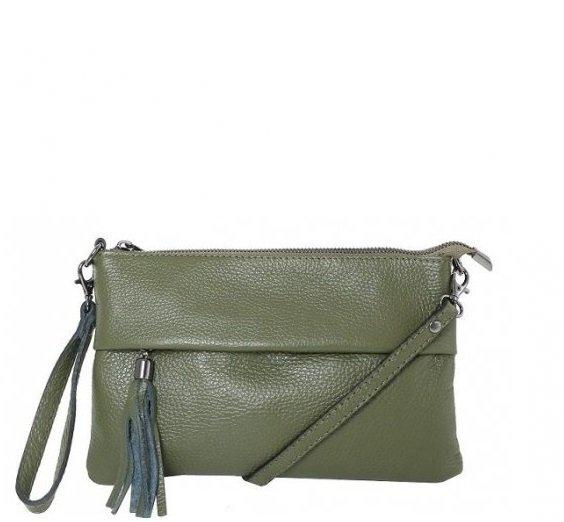 TALIANSKE Talianska kožené kabelky crossbody zelená Trudy - Glami.sk c71d5671da2
