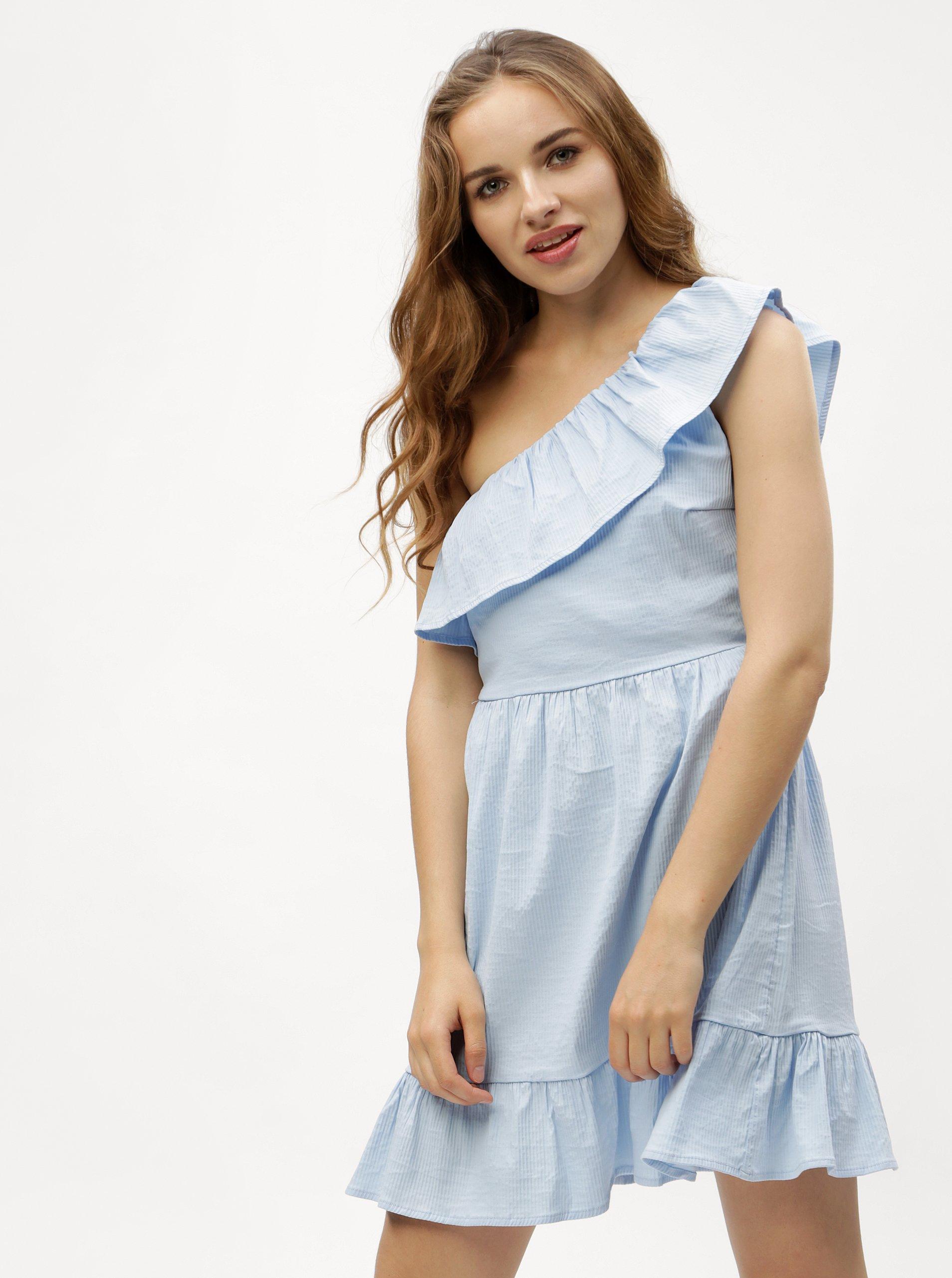 8e27cce7d Světle modré asymetrické šaty VERO MODA Sia - Glami.cz